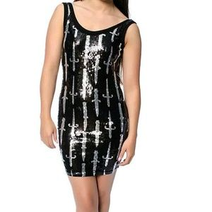 NWT Sequin Iron Fist Dress